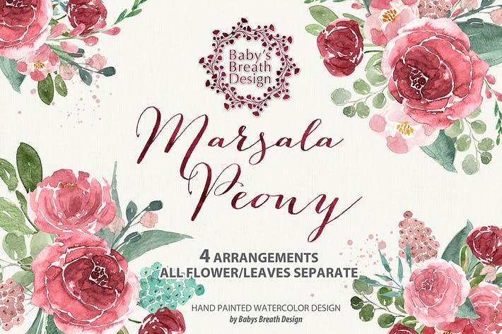 Cover Image For Marsala Peony design