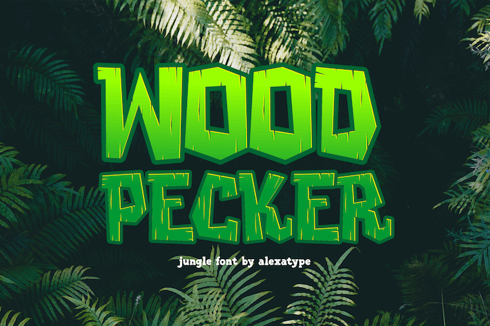 Thumbnail for Woodpecker - Unique Jungle Font