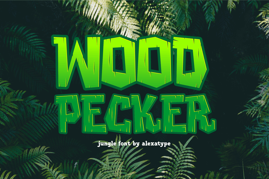Woodpecker - Unique Jungle Font