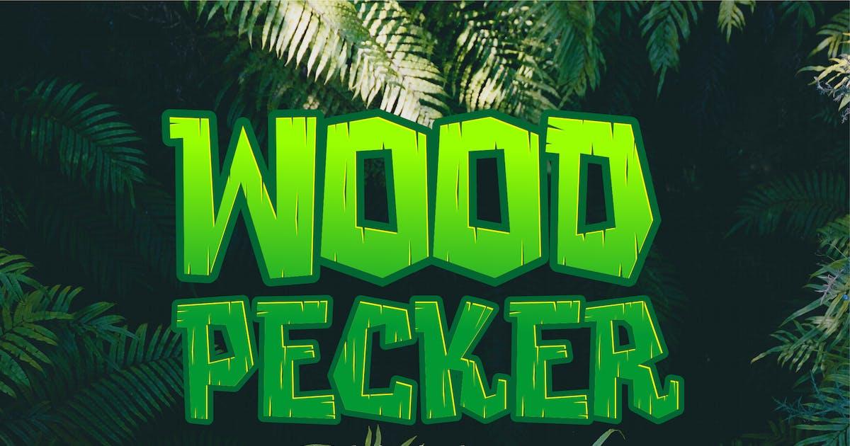 Download Woodpecker - Unique Jungle Font by alexacrib