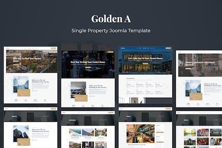 Goldena - Шаблон Joomla с одним свойством