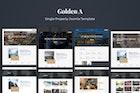 GoldenA - Single Property Joomla Template