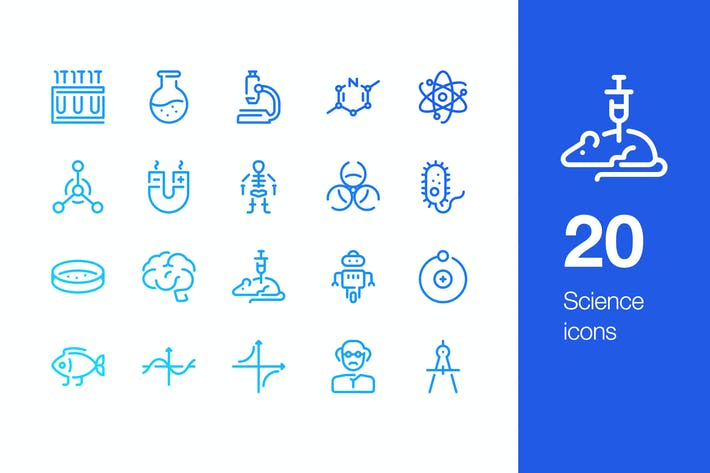 Thumbnail for 20 Science icons