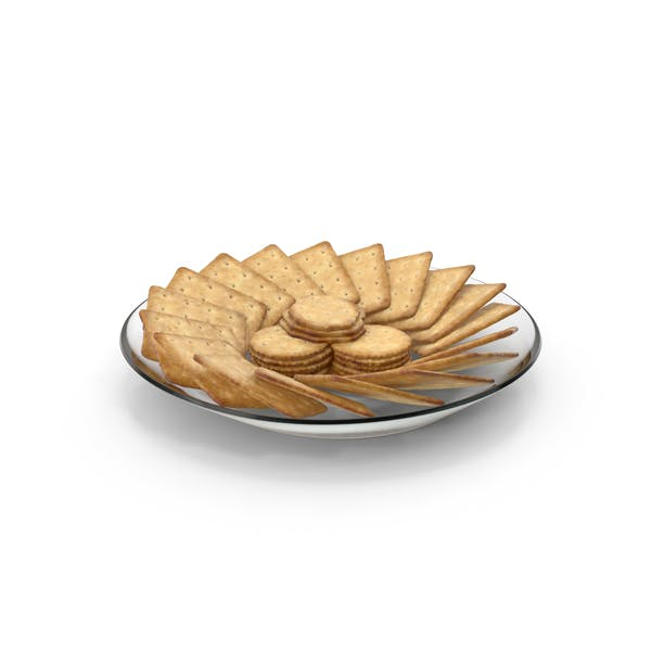 Plate with Organised Crackers