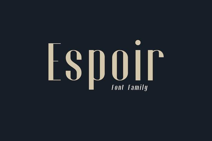 Thumbnail for Espoir Familia tipográfica