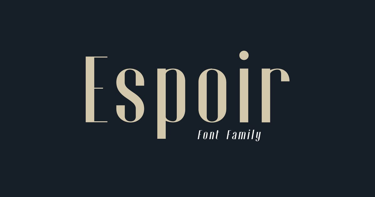 Download Espoir Font Family by craftsupplyco