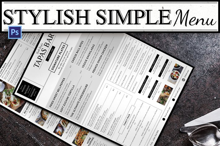Thumbnail for Stylish Simple Menu