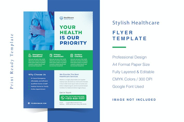 Thumbnail for Stylish Healthcare Flyer Template