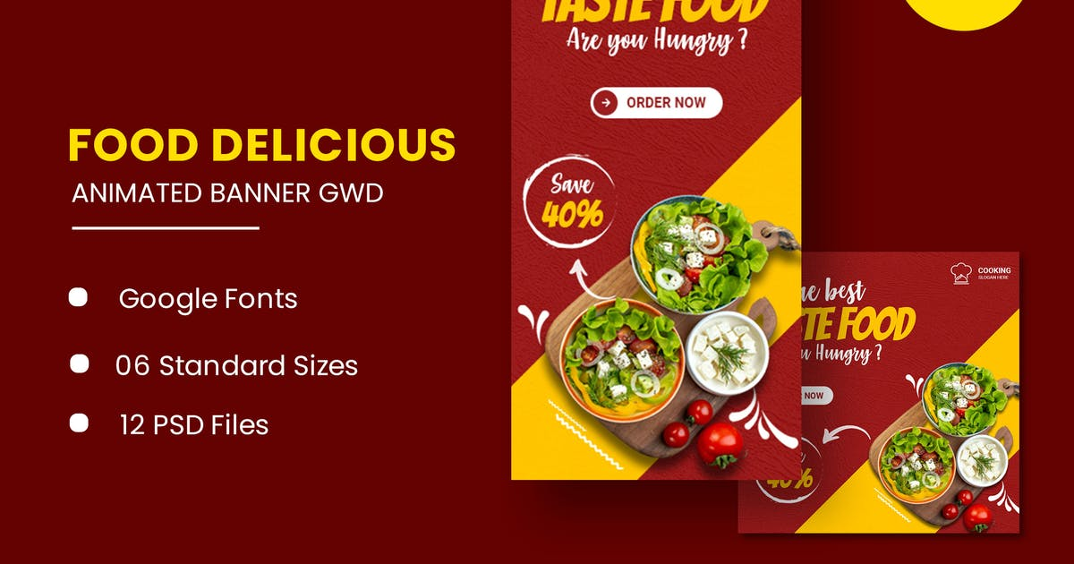 Download Fast Food Animated Banner GWD by IsLein