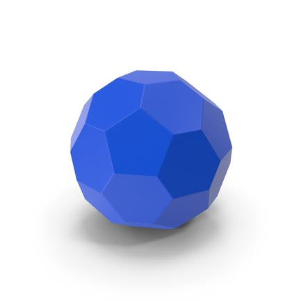 Sechseck-Kugel Blau