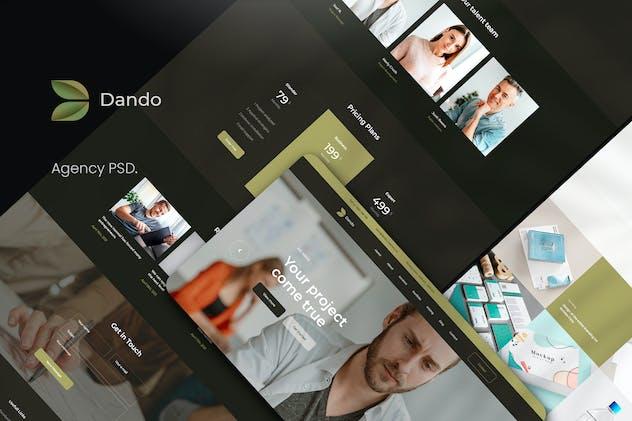 Dando Agency PSD Template
