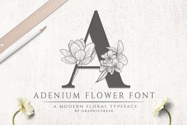 Thumbnail for Adenium Flower Font