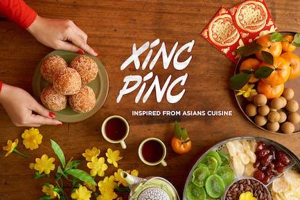 Xincpinc - Asian Cuisine Inspired Fonts