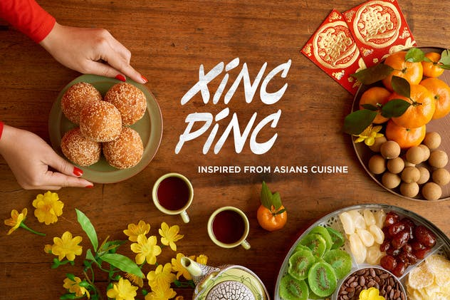 Xincpinc - Asian Cuisine Inspired Fonts