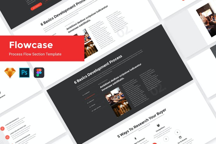 Thumbnail for FlowCase - Flow Section UI Kit Template