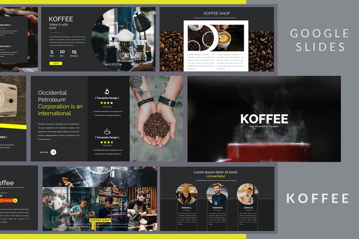 Thumbnail for Koffee Corporate - Google Slides Presentation