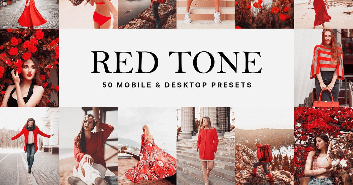 Download 50 Red Tone Lightroom Presets and LUTs by sparklestock