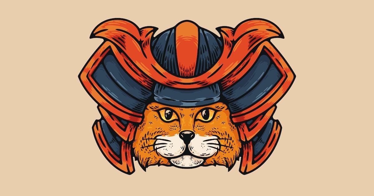 Download Cat With Samurai Helmet by andhikadsgn