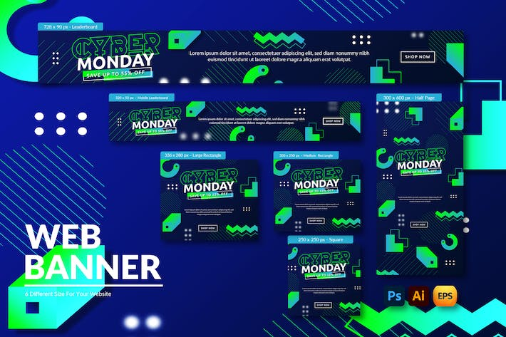 Cyber Monday Ads | Web Banner