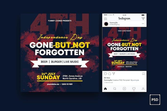 Thumbnail for Memorial Day Square Flyer & Instagram Post