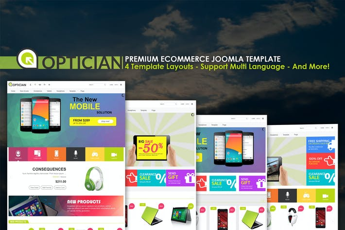 Thumbnail for Vina Optician - Premium eCommerce Joomla Template