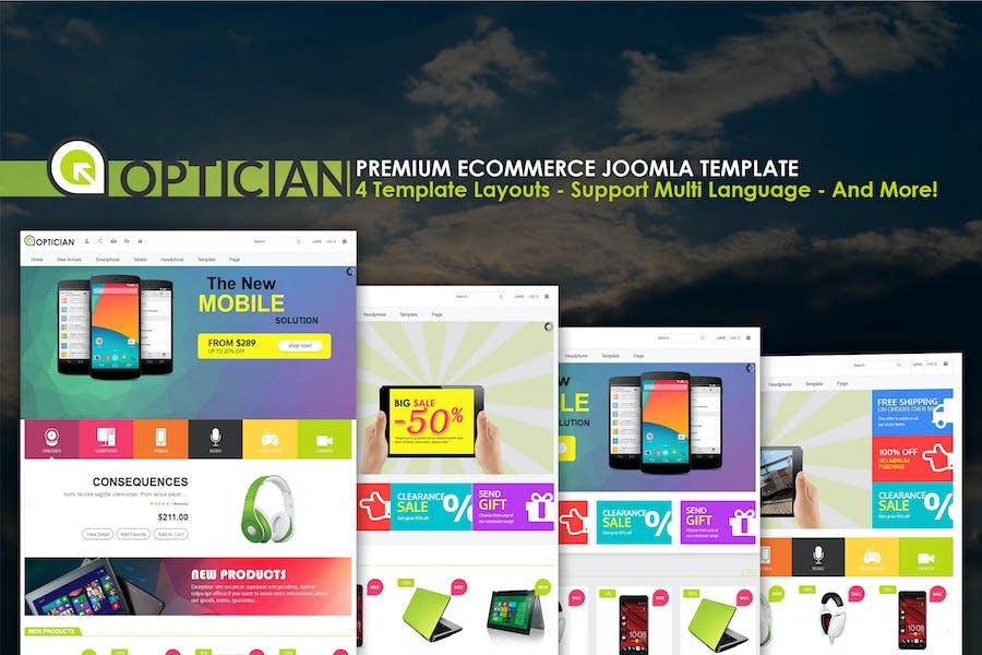 Viña Óptica - Plantilla Premium de comercio electrónico Joomla
