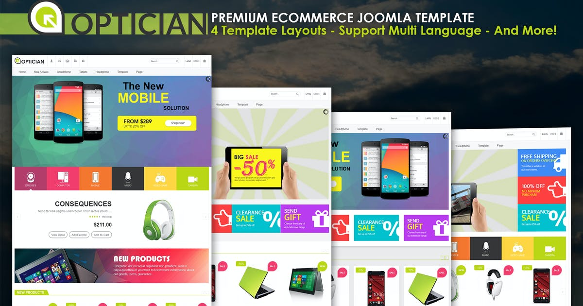 Download Vina Optician - Premium eCommerce Joomla Template by VinaWebSolutions