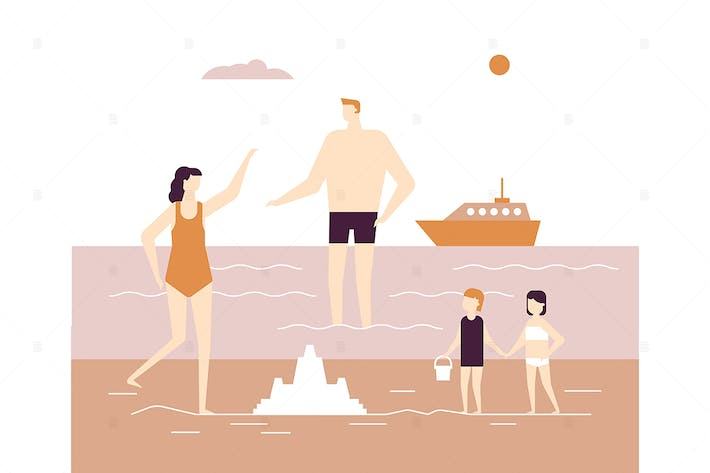 Thumbnail for Summer vacation - flat design style illustration
