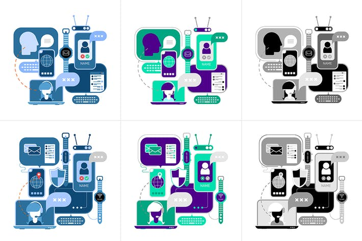 Thumbnail for Online Communication designs