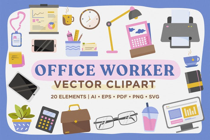 Thumbnail for Paquete Vector de Office Worker