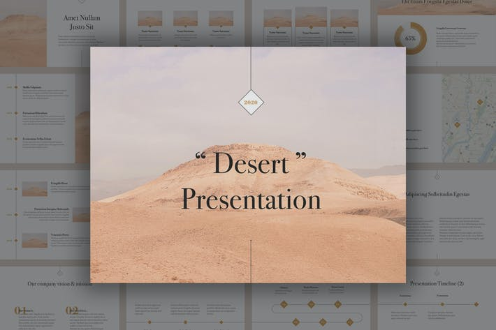 Thumbnail for Plantilla de Keynote desierto