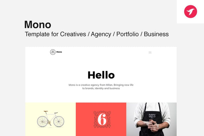 Cover Image For MONO - Template for Creatives / Agency / Portfolio