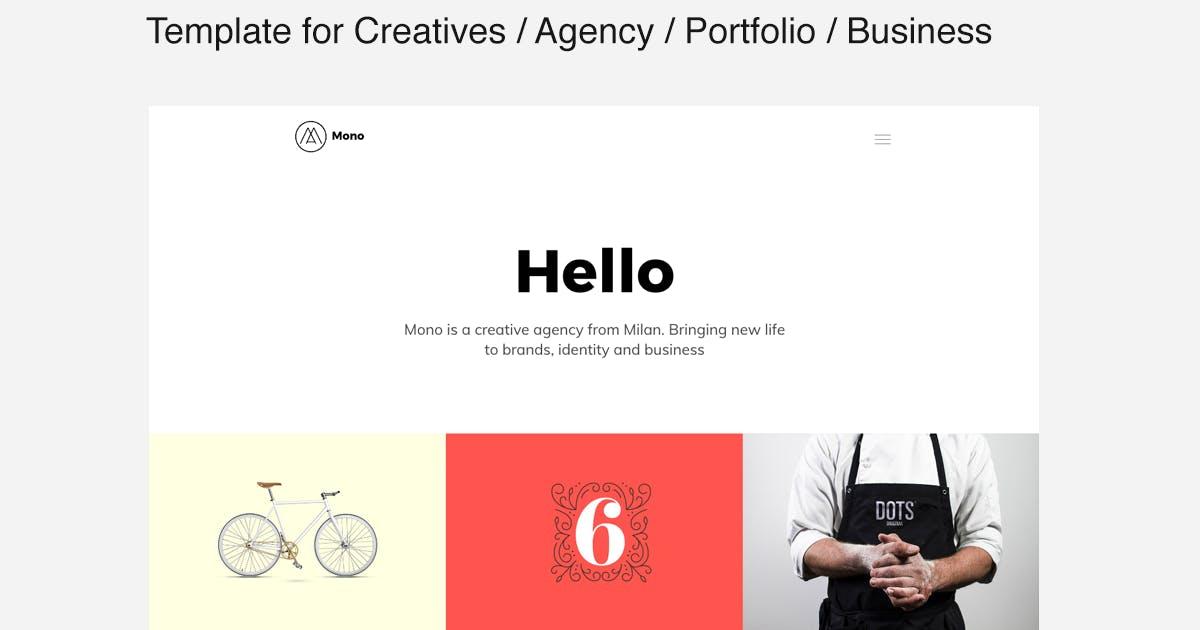 Download MONO - Template for Creatives / Agency / Portfolio by designova