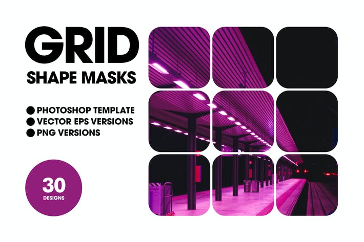 Cover Image For Grid Shape Masks