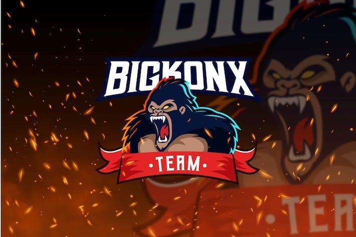Thumbnail for Bigkonx Team - Kong Mascot & Esport Logo