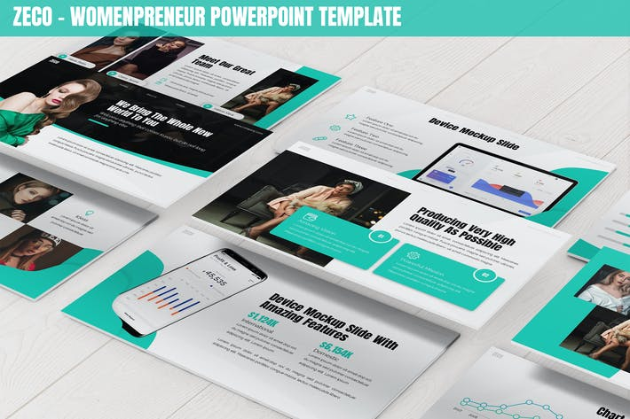 Thumbnail for Zeco - Womenpreneur Powerpoint Template