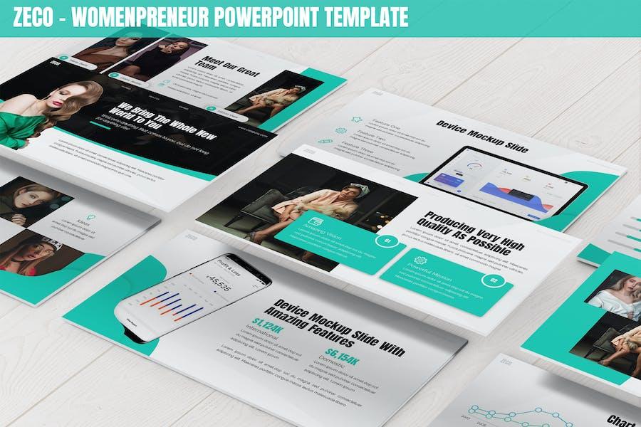 Zeco - Womenpreneur Powerpoint Template