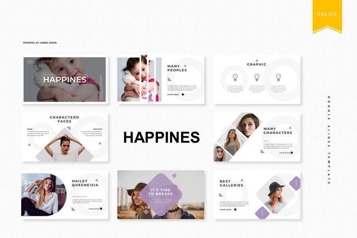 Thumbnail for Happines | Google Slides Template
