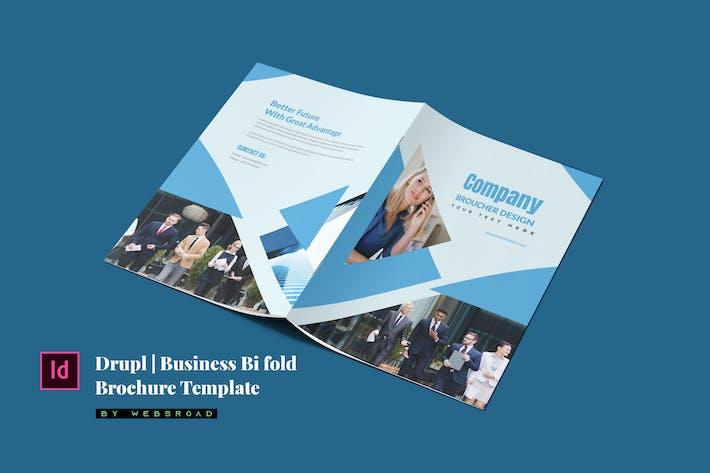 Thumbnail for Drupl   Business Bi Fold Brochure Template