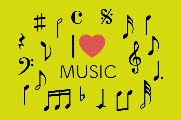Thumbnail for Music Symbols Clipart