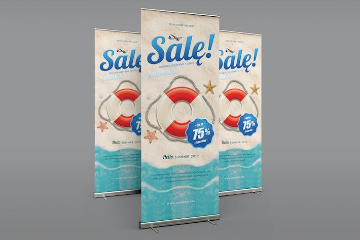 Thumbnail for Summer Sale Roll Up Banner