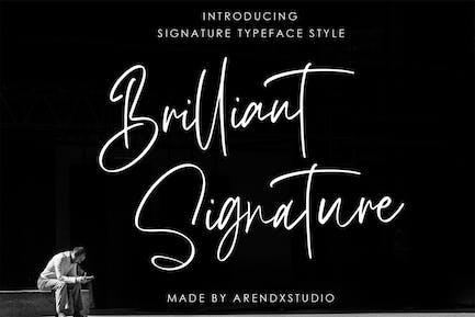 Brilliant Signature Logotype Font