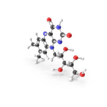 Riboflavin (Vitamin B2) Molecular Model