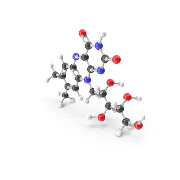 Молекулярная модель Рибофлавина (витамин B2)