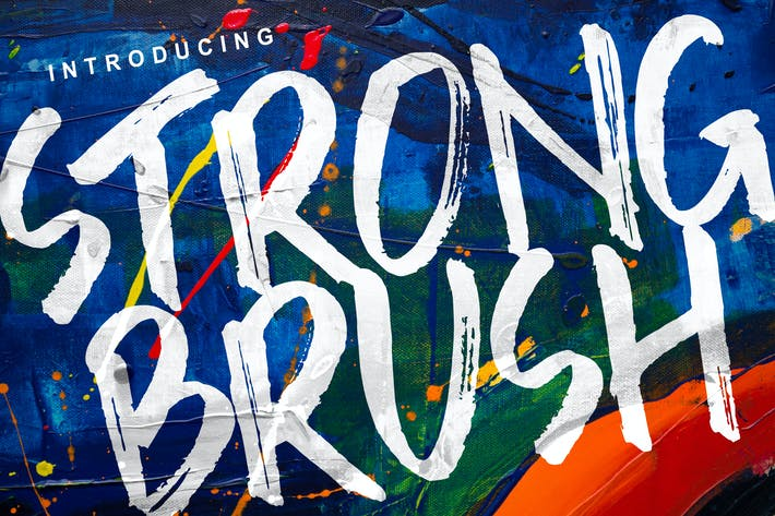 Thumbnail for Strong Brush Font