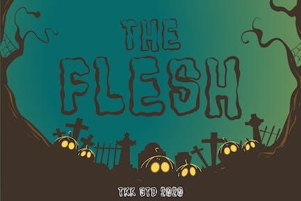 The Flesh - Horror Spooky Font