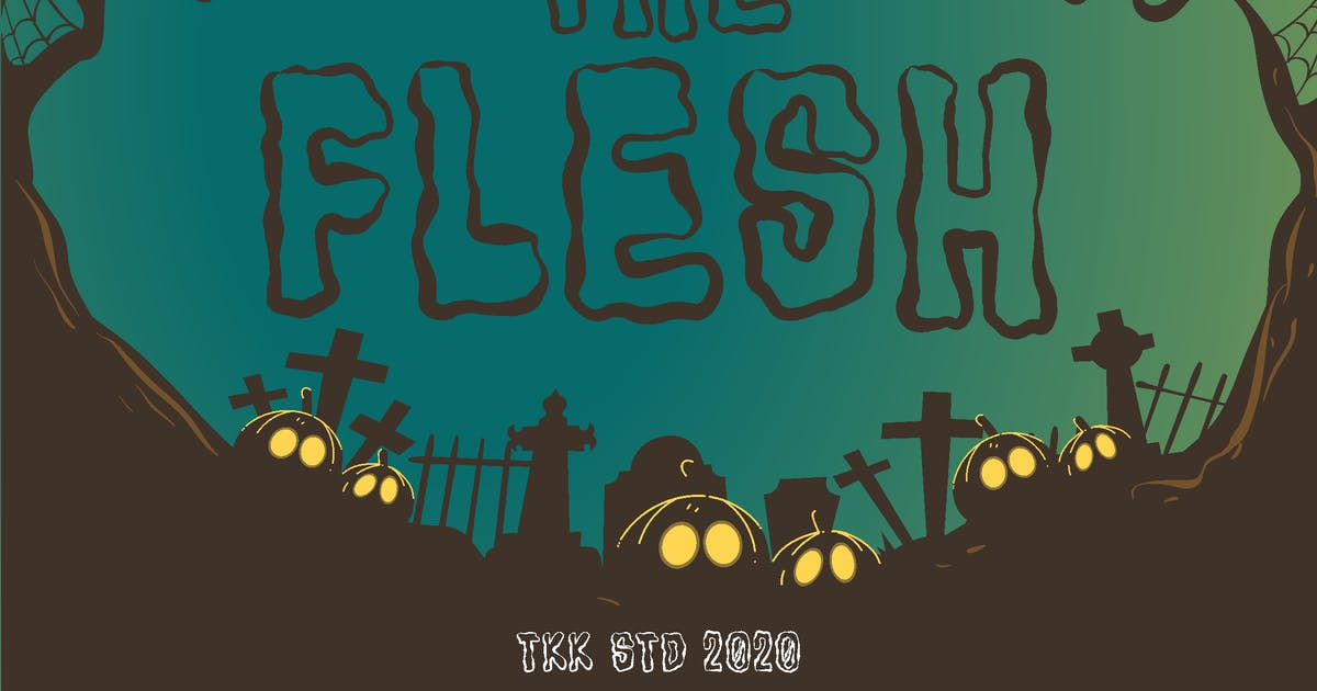 Download The Flesh - Horror Spooky Font by Tokokoo