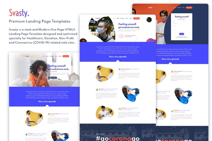 Thumbnail for Svasty Healthcare Service Landing Page Template