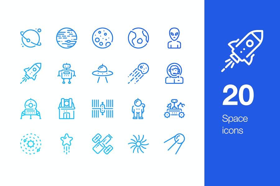 20 Leerzeichen Icons