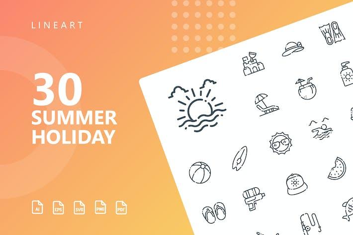 Icons für Sommerferien